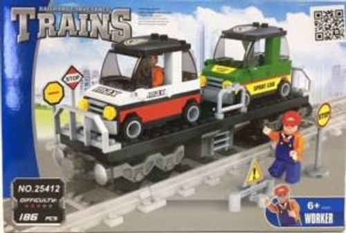 Ausini 25412 Building Block Flat Car w/Load 186p