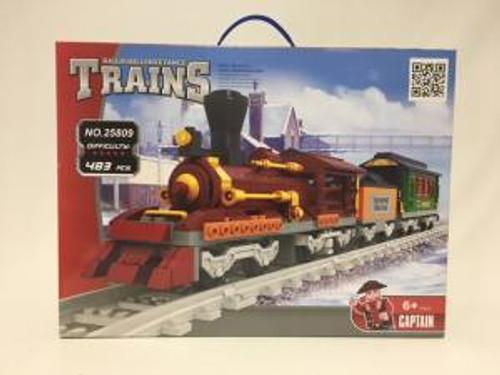 Ausini 25809 Building Block Passenger Train 483p