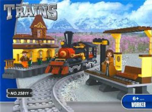 Ausini 25811 Building Block Steam Loco Train Stat 462p