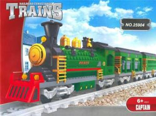 Ausini 25904 Building Block Steam Loco Passenger Train 666p