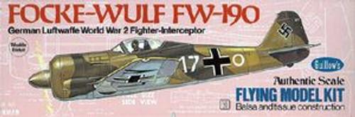 Guillow Inc. Model Kits 502 Focke-Wulf 190