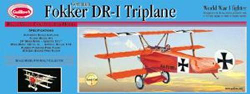 Guillow Inc. Model Kits 204 Fokker DR-1 Triplane