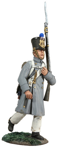 W Britain Soldier 36094 French Line Fusilier Marching In Greatcoat No. 2