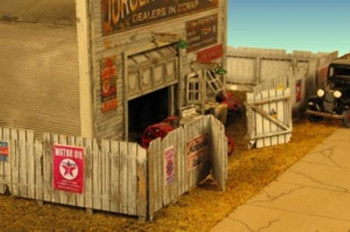 Monroe Models HO Scale Junk Yard Fence