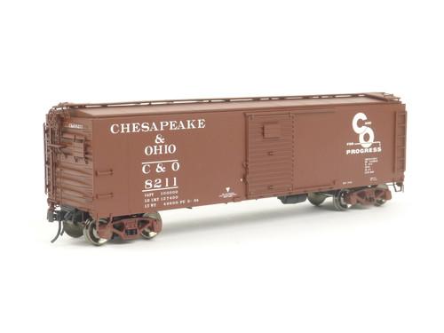 Atlas Trains 3002904-2 Chesapeake & Ohio 1923 ATA 40' Steel Box Car 2 Rail O Gauge