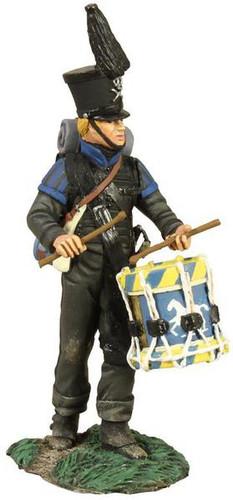 W Britain Soldier Napoleonic Brunswick Leib Battalion Drummer