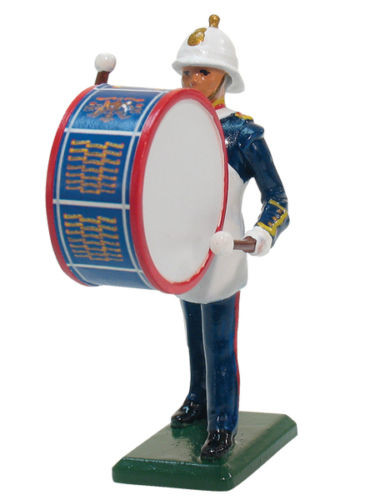William Britain Royal Marine Bass Drummer Collectible Metal Toy Soldier