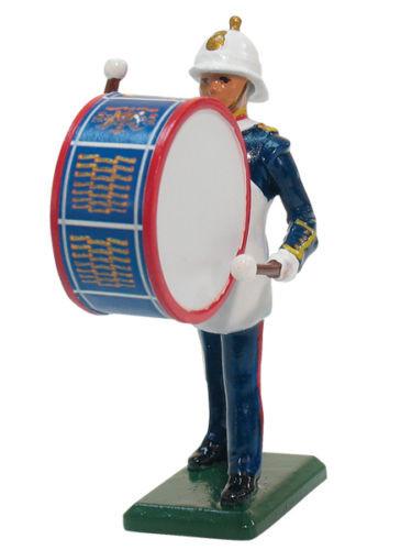 William Britain 43077 Royal Marine Bass Drummer Collectible Metal Toy Soldier