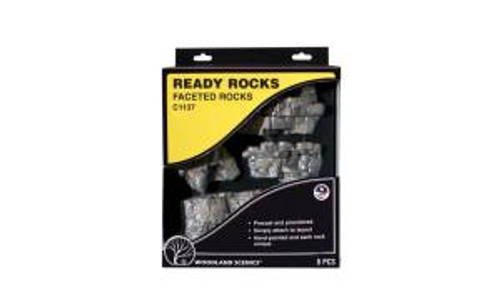 Woodland Scenics 1137 Faceted Ready Rocks