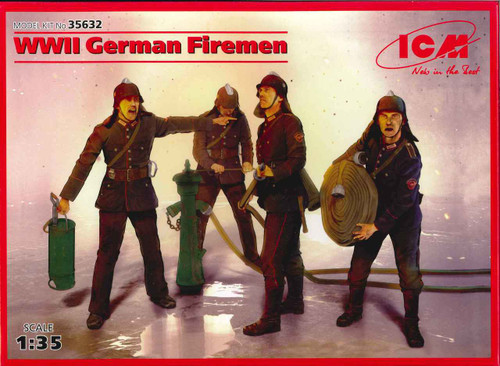 ICM WWI I German Firemen Plastic Model Kit No. 35632
