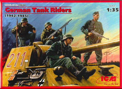ICM WWII German Tank Riders Plastic Model Kit No. 35634 (1942-1945)