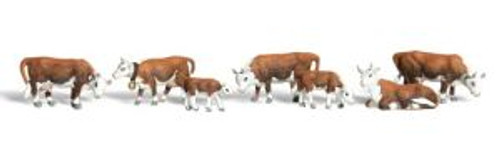 Woodland Scenics 2144 N Scale Hereford Cows