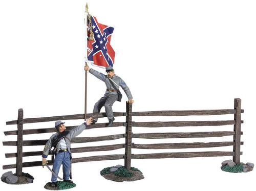 W Britain 31224 American Civil War Passing The Colors - Confederate Infantry Officer