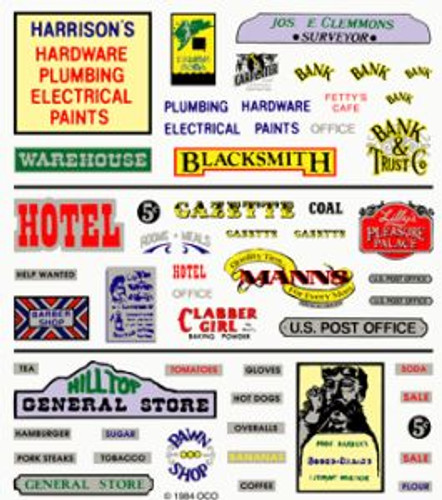 Woodland Scenics 552 Assorted Business Signs