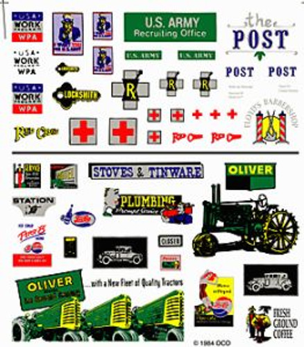 Woodland Scenics 556 Assorted Logos & Ad Signs