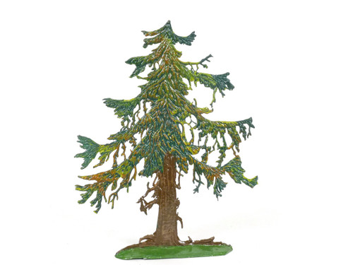 Hornung Art Ancient Pine Tree 11SP Flat Hand Painted Metal Cast