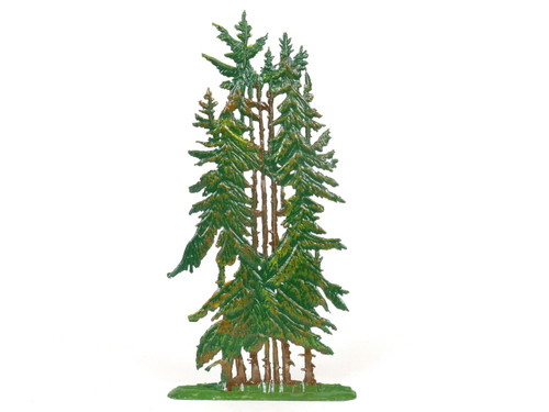 Hornung Art Stand Of Pine Trees 9SP Flat Hand Painted Metal Cast