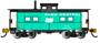 Bachmann Trains 16866 N Scale NE Steel Caboose PC green