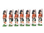 Rolf W. Nelson Black Watch Highlanders Marching 54mm Toy Soldiers 7 Figures