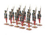 Indian Army Figures Toy Soldiers Standing With Rifles At The Shoulders