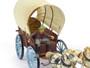 Elastolin Composition Plastic Figures Conestoga Wagon With Driver