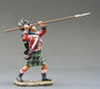 King & Country Soldiers NA051 Age Of Napoleon Sergeant Attacking With Pike
