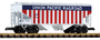 Piko Union Pacific US Flag Covered Hooper Car 38857 G Scale Trains