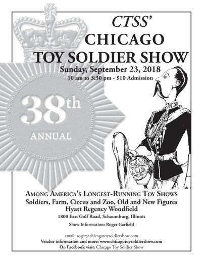 Trains and Toy Soldiers is proud to sponsor the 2018 Chicago Toy Soldier Show
