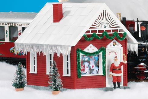 PIKO G SCALE MODEL TRAIN BUILDINGS NORTH POLE STATION BUILT-UP - 62265