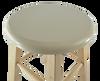 sauna stool top view