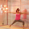 Hot Yoga and Exercise being demonstrated by Jenn Bodnar from YogaDigest.com in tent prototype.