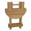 Bamboo Folding Stool for use with the Sauna Fix near infrared sauna