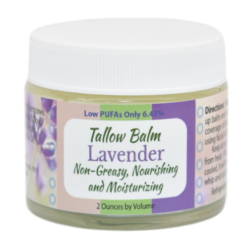 Lavender scented tallow balm at Creatrix Solutions
