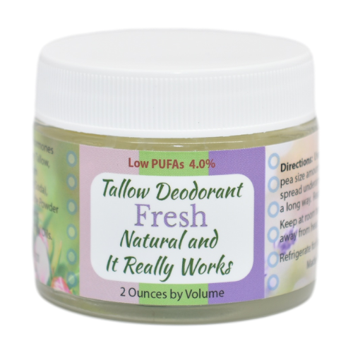 Tallow Deodorant Fresh from Creatrix Solutions