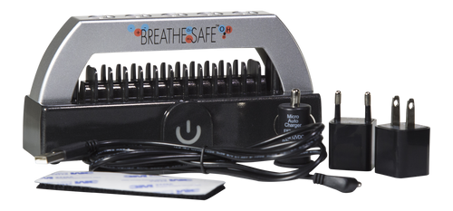 Breathe Safe plasma air purifier and power accessories