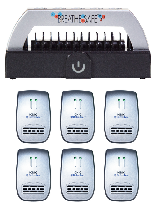 Breathe Safe and Ionic Refresher 6-Pack - Air Purification Combo