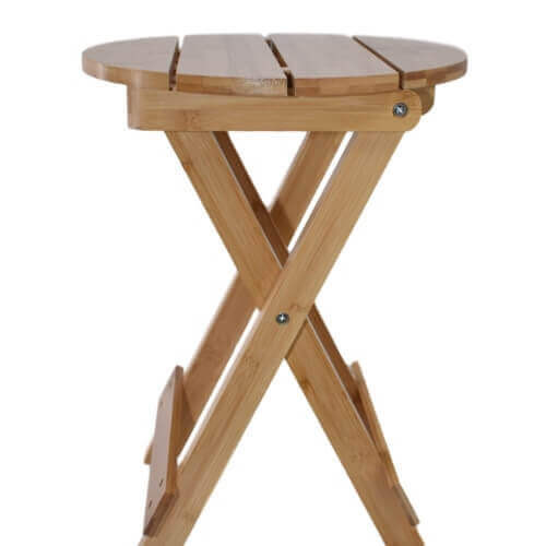 Bamboo Folding Stool for use with the Sauna Fix near infrared sauna