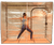 An inside look of the Hot Yoga and Exercise sauna tent from the side.