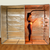 Hot Yoga and Exercise sauna tent includes a vertical partition to create a single person sauna space.