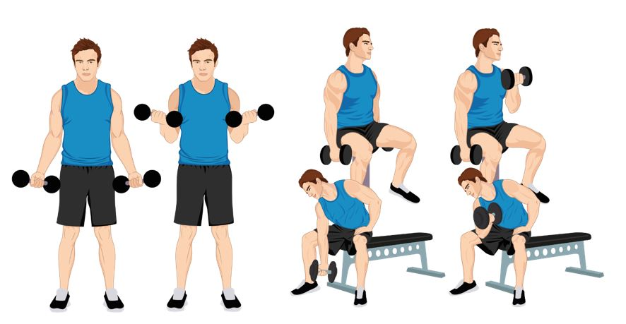 Avoid this method of the Bicep Curl Exercise