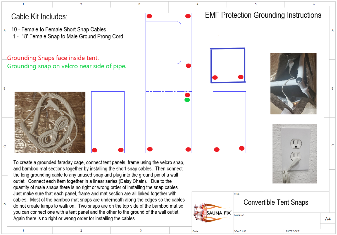 Faraday Cage EMF Protection Grounding Instructions