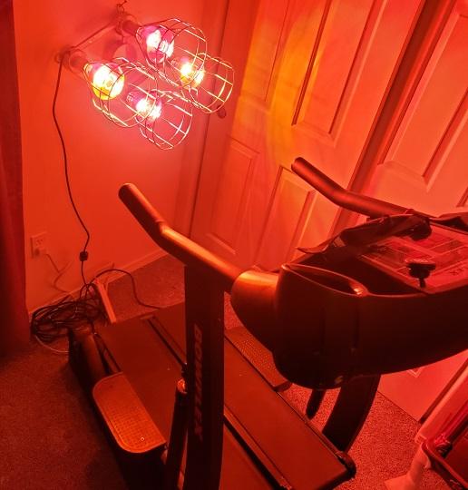 Sauna Lights on Treadmill