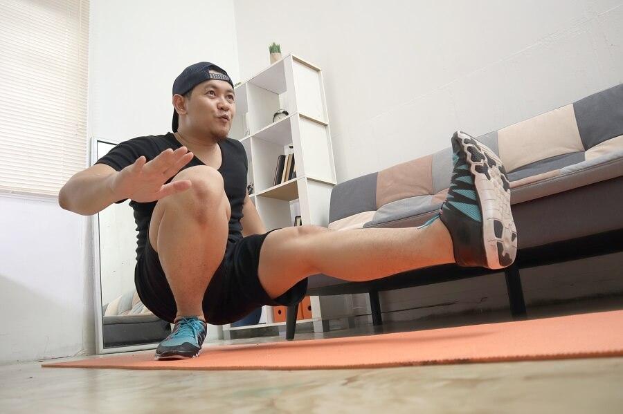 Man Exercising Indoors
