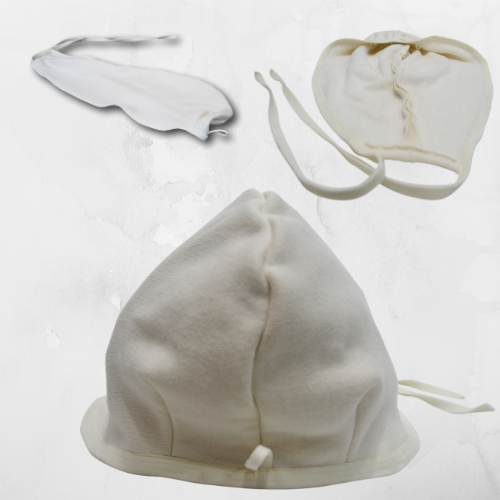Sauna Hat with Ties - Different Views