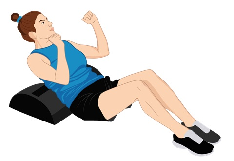 Illustrative Example of a Sit-Up over the Power Cushion