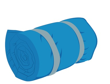 Illustrative Example of a Rolled-Up Sleeping Bag