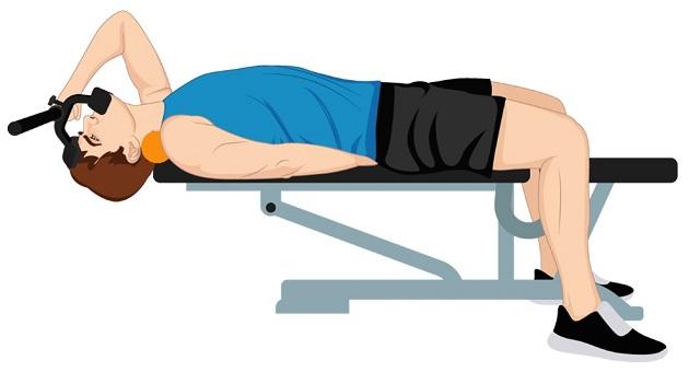 Illustrative Example of Neck Flexion Exercise