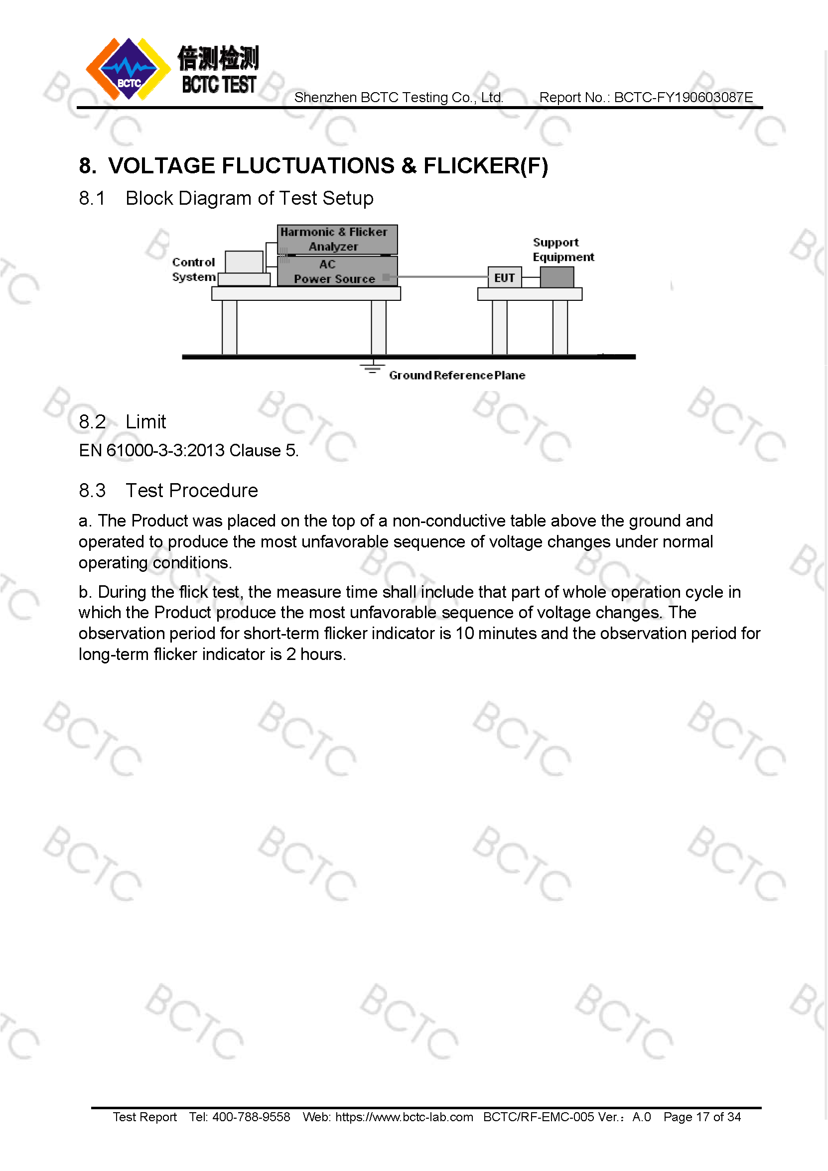 Tri-Oxy COMPLETE EMC Test Report Page 17