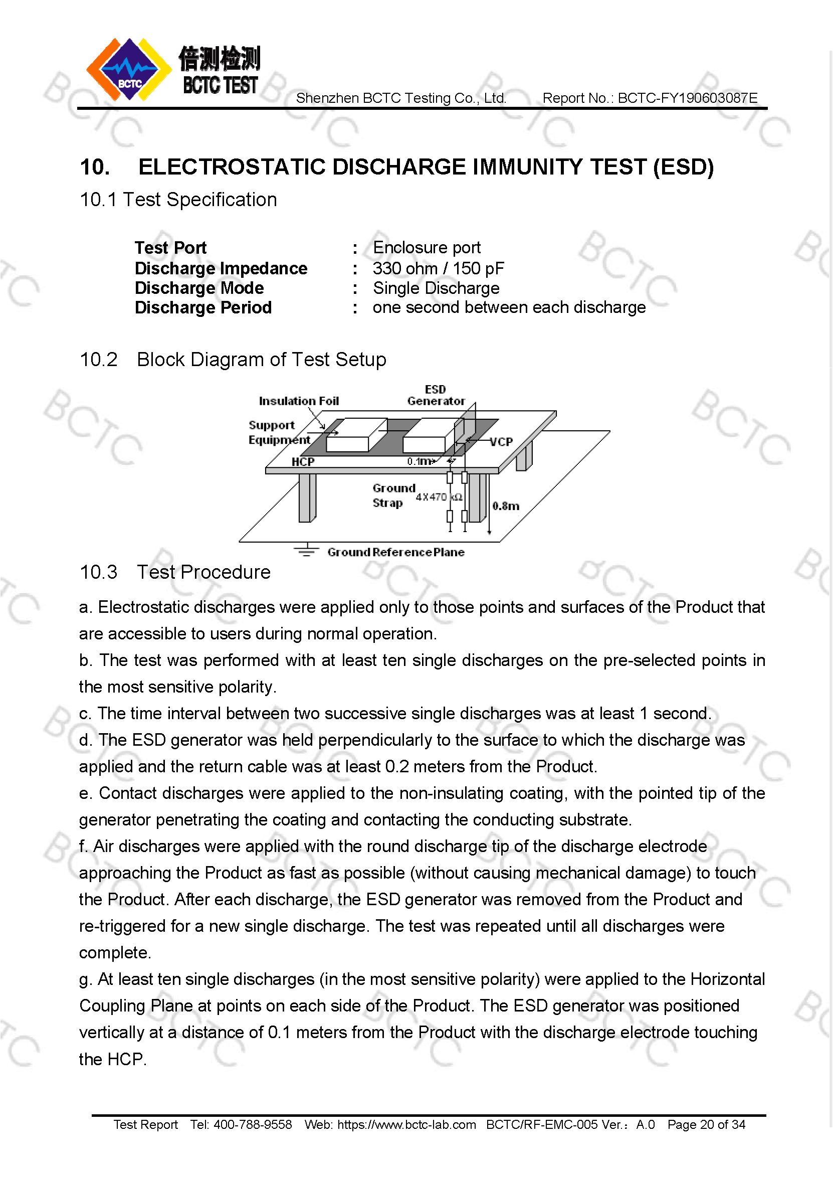 Tri-Oxy COMPLETE EMC Test Report Page 20