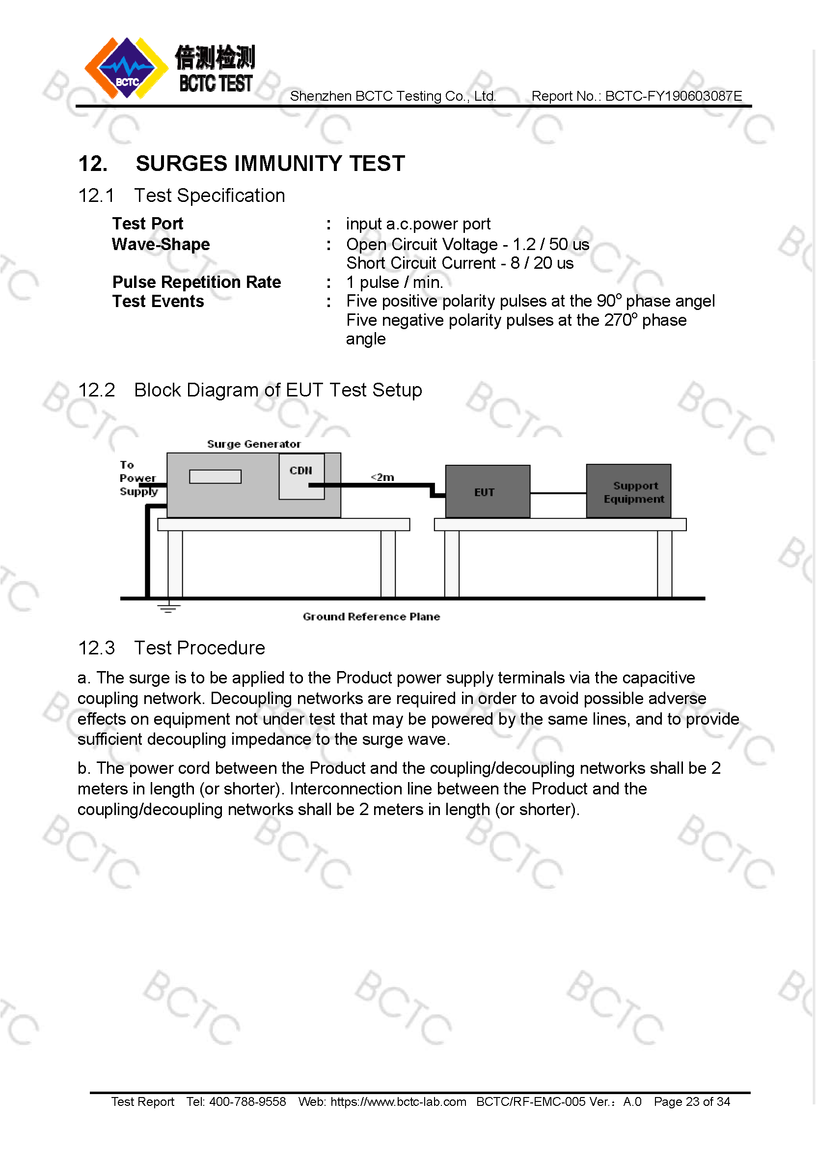 Tri-Oxy COMPLETE EMC Test Report Page 23